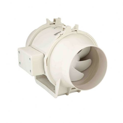 S&P Plastic Duct Centrifugal Fan With Mounting Plate And Removable Motor 100mm 248M3/Hr 240V~50Hz